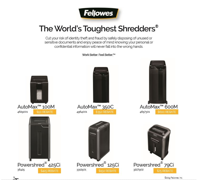 Fellowes Rebates & Offers