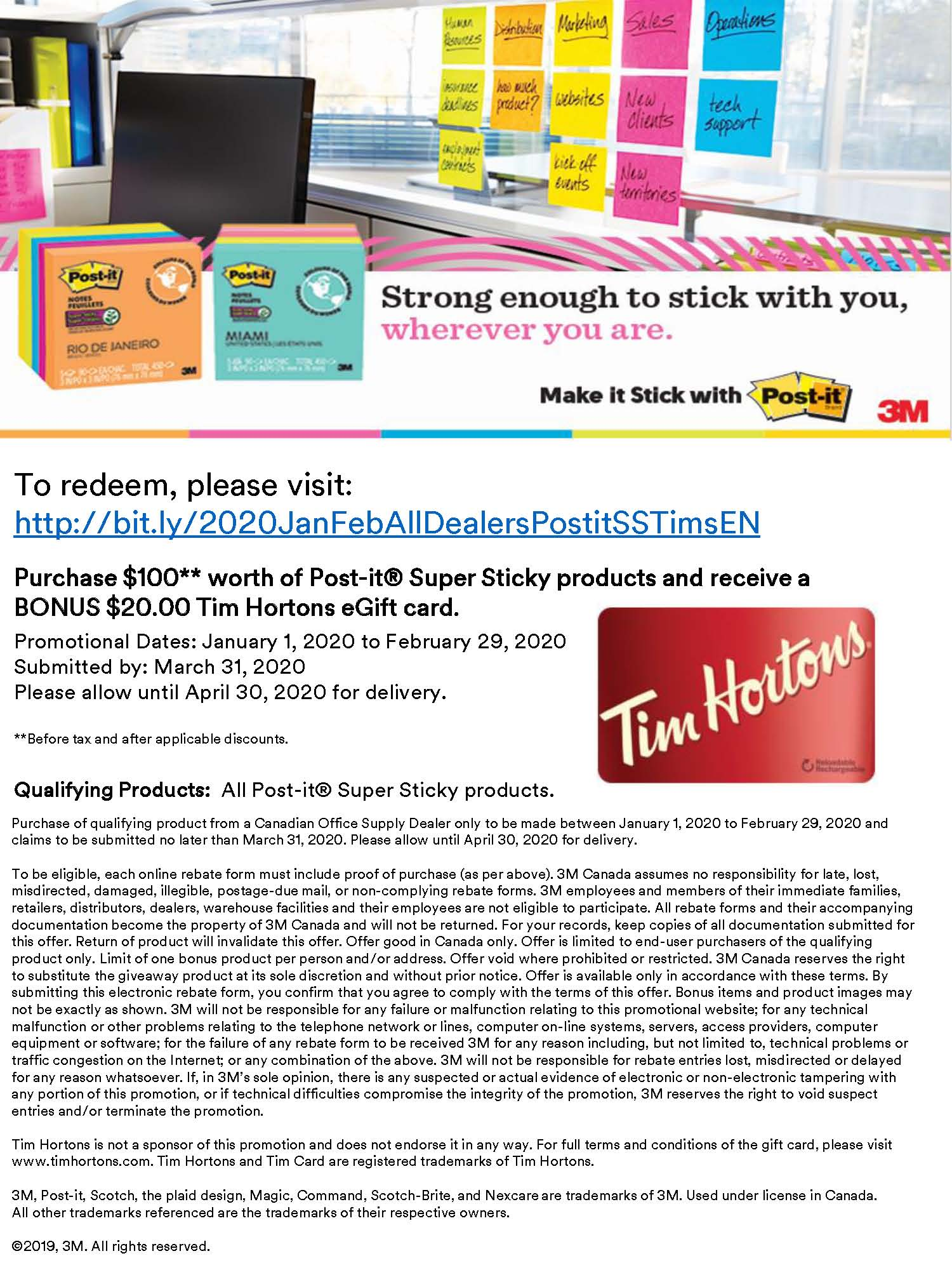 Post-It Rebates & Offers