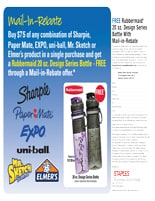 Sharpie, Paper Mate, EXPO, uni-ball, Mr. Sketch, ELMER'S Rebates & Offers