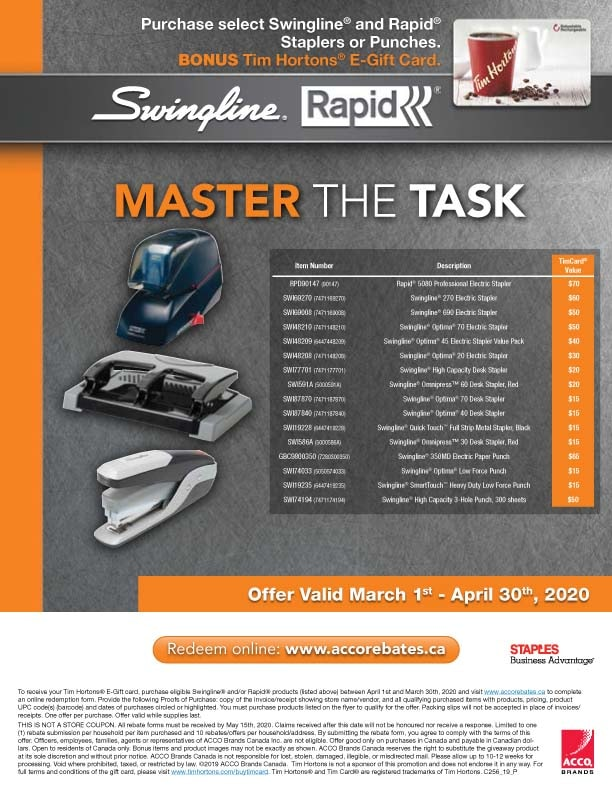 Swingline & Rapid Rebates & Offers